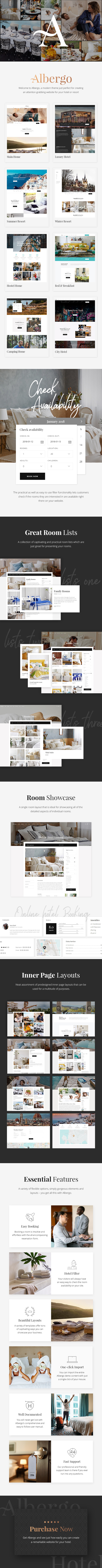 WordPress theme Albergo - A Modern Hotel and Accommodation Booking Theme (Travel)